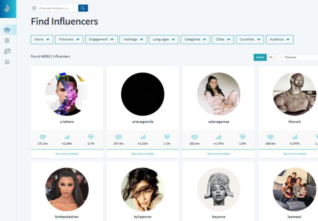 InfluencerDB Find Influencer