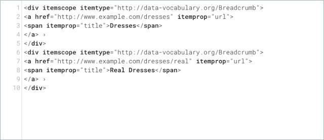 Beispiel für strukturierte Daten mit Data-Vocabulary