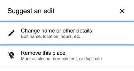 Unternehmen entfernen in Google My Business
