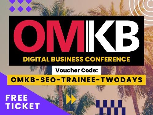 OMKB-Rabattcode für ein kostenloses Ticket: OMKB-SEO-TRAINEE-TWODAYS